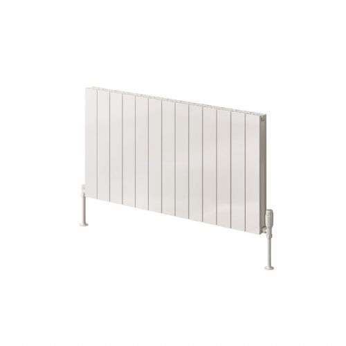 Reina Casina Single Horizontal Designer Radiator - 600mm High x 470mm Wide - White
